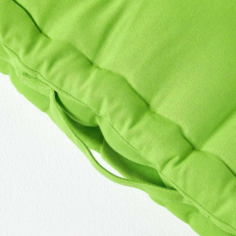 40 x 40 cm Uni hellblau 100/% Reine Kaliko Baumwolle mit Polyester F/üllung Homescapes Farbenfrohes Sitzkissen Stuhlkissen Sitzerh/öhung Stuhlauflage