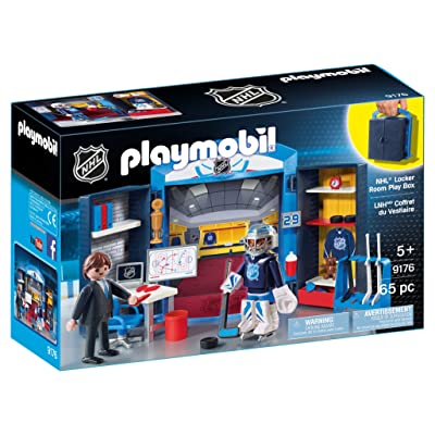 PLAYMOBIL NHL Locker Room Play Box: Toys & Games