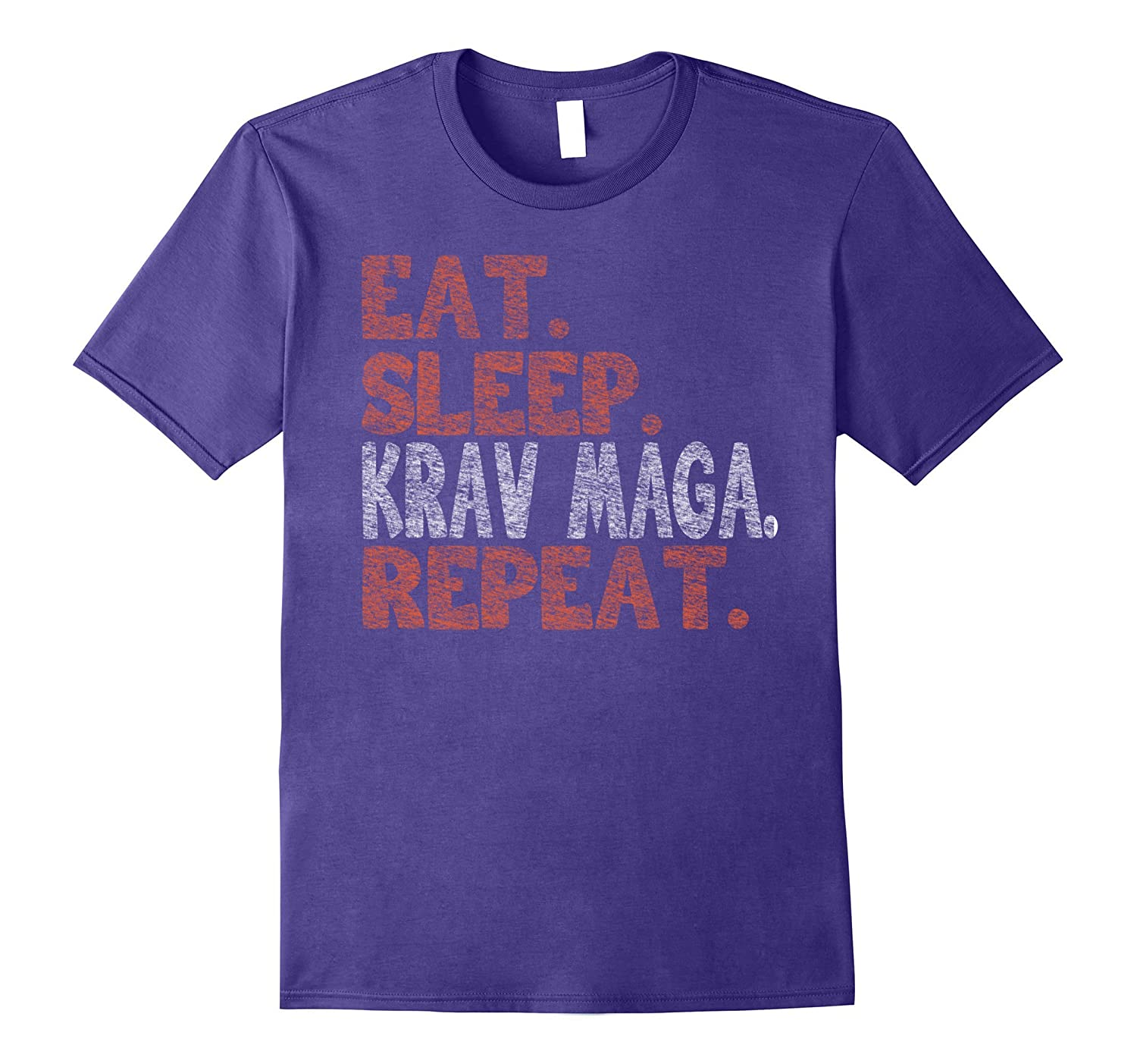 Eat Sleep Krav Maga Repeat Distressed T-Shirt-PL