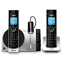 VTech Connect to Cell DS6771-3 DECT 6.0 Cordless Phone - Black, Silver, 6.9