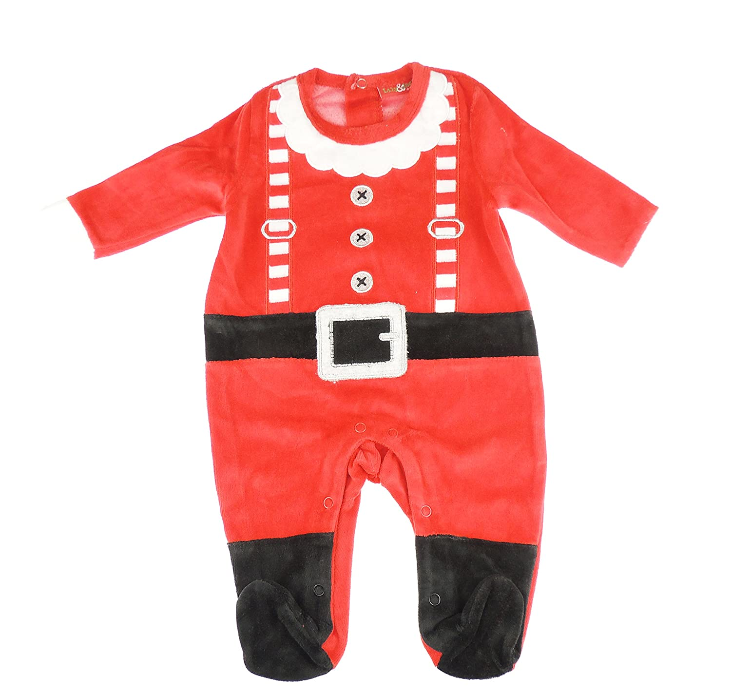 Festive Christmas Winter Baby Girls Boys Romper Sleeper All in One Santa Claus Outfit 0-3 Months Glamour Girlz