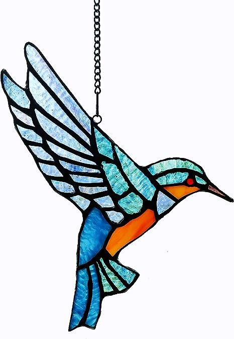 Stained Glass Blue Bird Sun Catcher