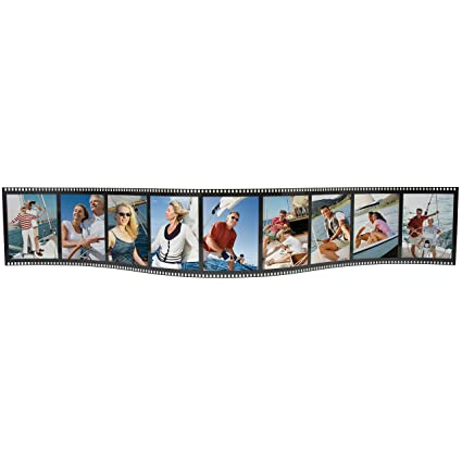 Amazon.com - Horizontal Filmstrip Frame Wave Frames - Holds 9 Photos ...
