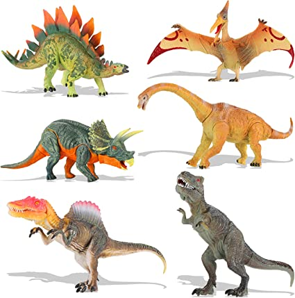 Triceratops Toys Figures Realistic Dinosaurs 12.6'' Spinosaurus Stegosaurus