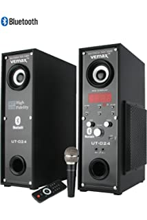 home theater tower speakers. vemax twin tower speakers (7000 watts pmpo) with bluetooth \u0026 mic home theater