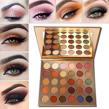 Palette Fard à Paupière Maquillage Marron,Afflano Eyeshadow Palette Mat  Glitter Professionnel,Palette Maquillage Yeux Femme Pigmenté,Chocolate  Violet