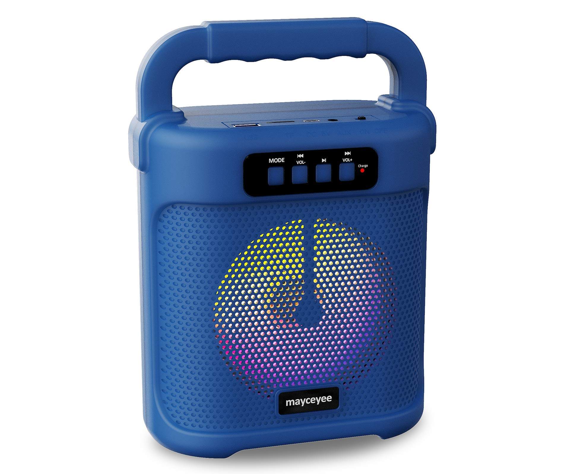 mayceyee Portable Bluetooth Speaker with FM Radio Rechargeable Wireless Speaker with Line