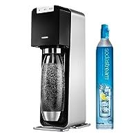 SodaStream Power Elektronischer Wassersprudler, Macht vollautomatisch aus Leitungswasser Sprudelwasser - Ohne schleppen! mit 1 Zylinder und 1L Pet Flasche (BPA Frei); Farbe: Schwarz