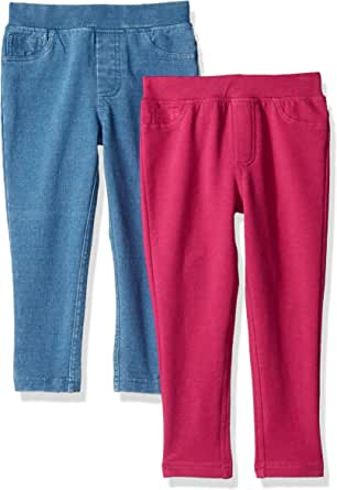 Spotted Zebra Girls GSZ60040FL18 Girl's 2-Pack Knit Jegging Pant Casual Pants - Multi