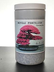Bonsai Tree Fertilizer 2.4 LB Jar -Tons of Micro Nutrients Vital for Bonsai Health - Slow Release- Apply Every 30 Days (All Purpose Fertilizer) (Flowering Fertilizer)