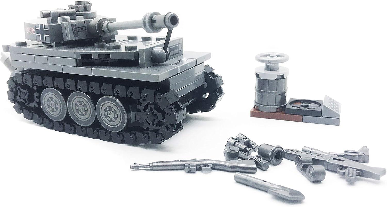 koolfigure Custom Sets of WW2 German Army Tiger Tanks Tank B- 233 PCS WWII Mini Building Blocks Toys for Kids Age 6+