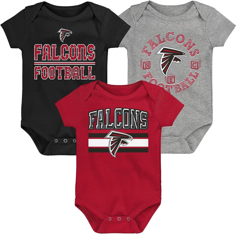 Outerstuff Atlanta Falcons Infant 3-Piece Team Logo Creeper Set