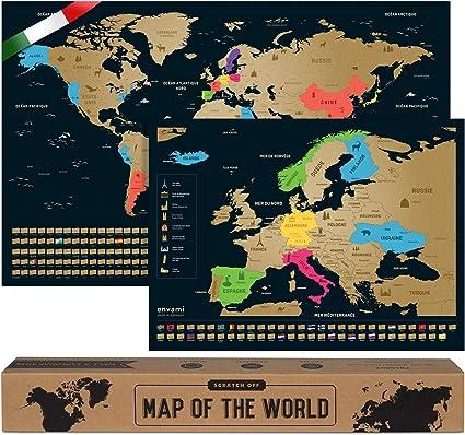 Cartina Mondo Gratta.Mappa Del Mondo Da Grattare I Cartina Mondo I Italiano I Piu Mappa Europea I 68