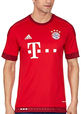 43964e99a adidas Bayern Munich Home Shirt 2015 2016 Multi-Coloured FCB true red craft  red
