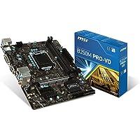 MSI B250M PRO-VD LGA 1151 Intel B250 SATA 6Gb/s USB 3.1 Micro ATX Intel Motherboard
