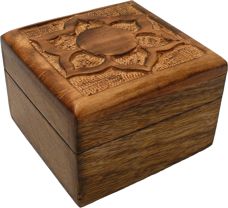 Caja mágica de Madera, Magic Box 10 x 10 x 6,5 cm, Caja secreta ...