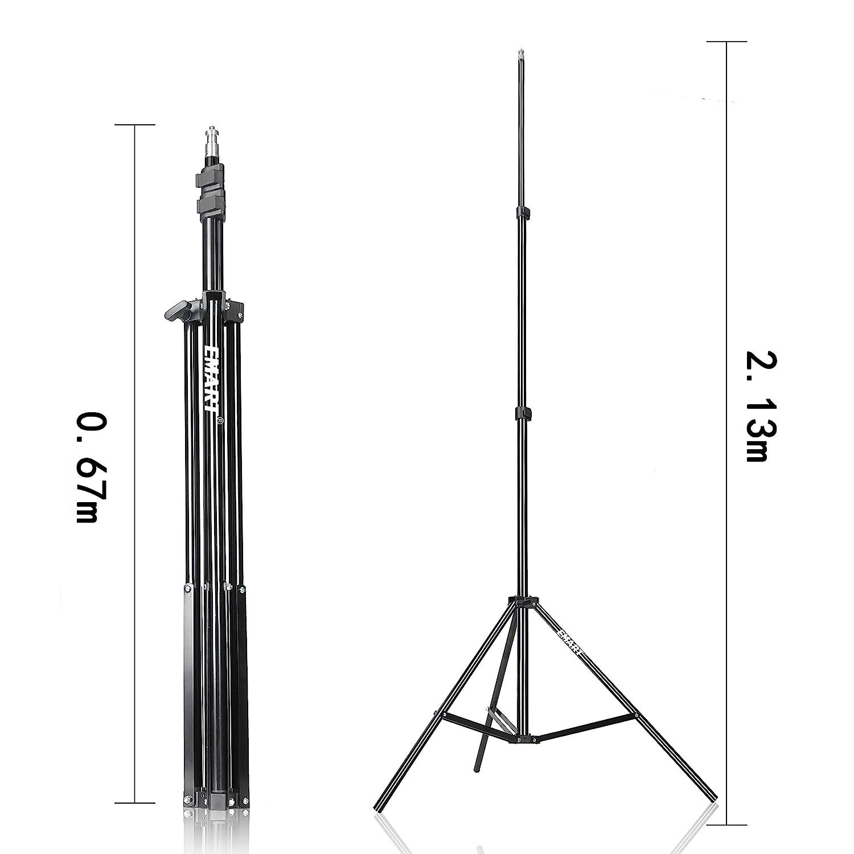 Soportes de luz para Estudio fotogr/áfico Emart Photography 2 m, 2 Unidades
