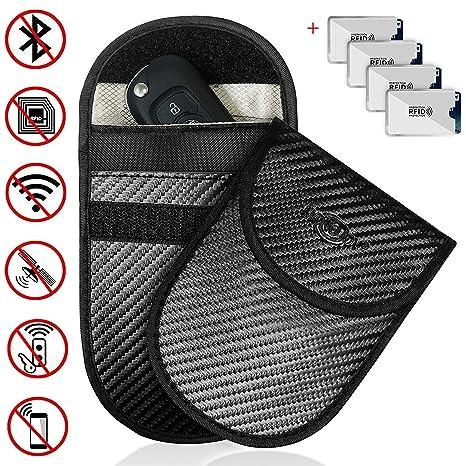 MONOJOY 2 Pack Large Faraday Bag Signal Blocking Pouch For Car Keys Phones Large