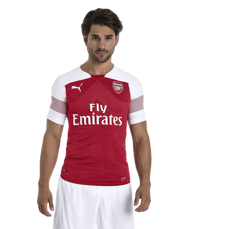 a56546136 Amazon.com   PUMA 2018-2019 Arsenal Home Authentic Evoknit Football Soccer  T-Shirt Jersey   Clothing