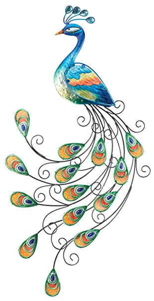 Gentil Regal Art U0026 Gift Glass Peacock Wall Decor
