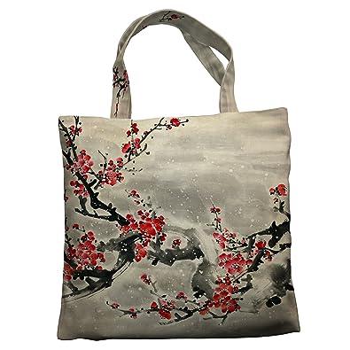 Amazon.com: Personalizado bolsa de lona asiático, ciruelo ...
