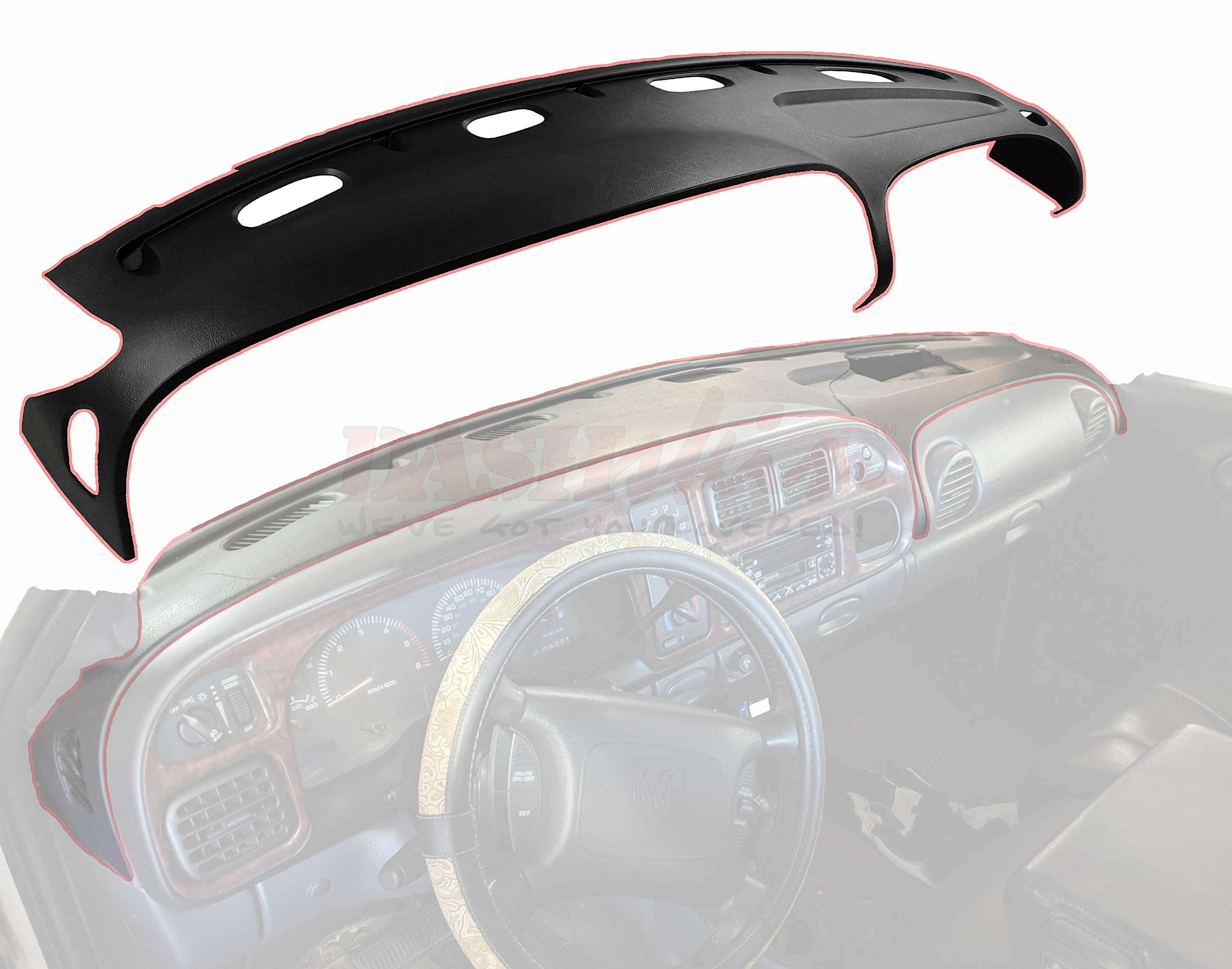 DashSkin Molded Dash Cover Compatible with 98-01 Dodge Ram in Camel by DashSkin (Image #5)