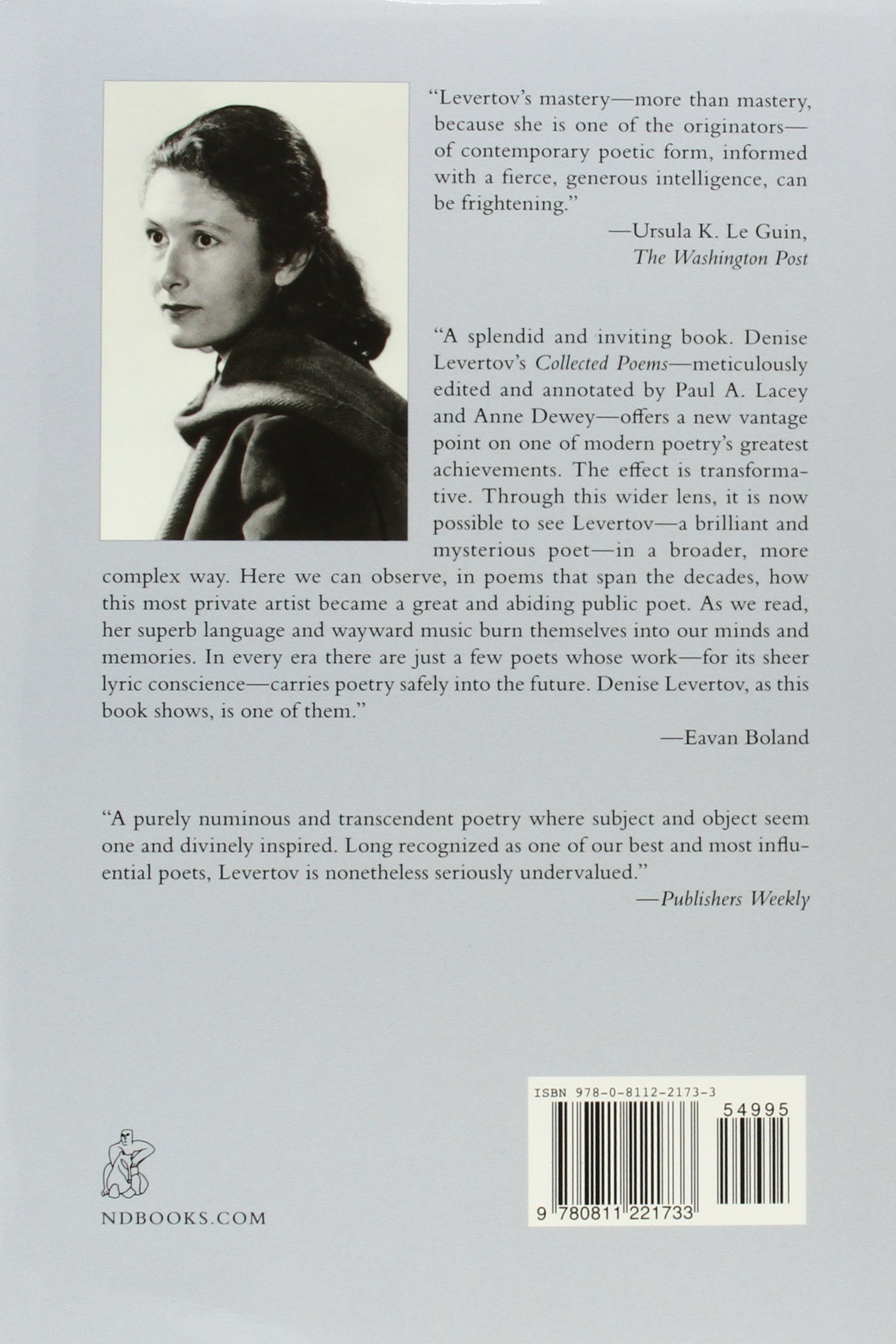 The Collected Poems Of Denise Levertov: Amazon: Denise Levertov, Paul  A Lacey, Eavan Boland: 9780811221733: Books