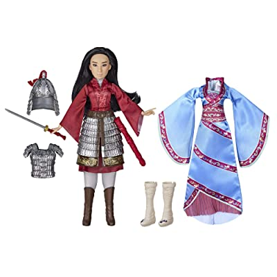 Disney Mulan Two Reflections Set, Fashion Doll with 2 Outfits and Accessories, Toy Inspired by Disney's Mulan Movie: Toys & Games