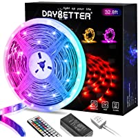 Daybetter 5050 RGB Flexible Color Changing Remote Control Led Strip Lights - 32.8ft
