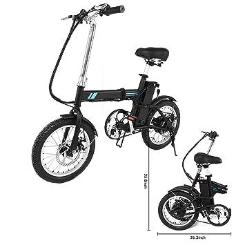 """FastDirect Bicicleta de Montaña Eléctrica Plegable con Batería de Iones de Litio Ruedas de 16"""""""