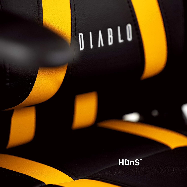 Nero-Blu, Standard Diablo X-One Gaming Sedia da Ufficio Design Ergonomico Meccanismo di Inclinazione Cuscino Lombare Finta Pelle Portata 150 kg