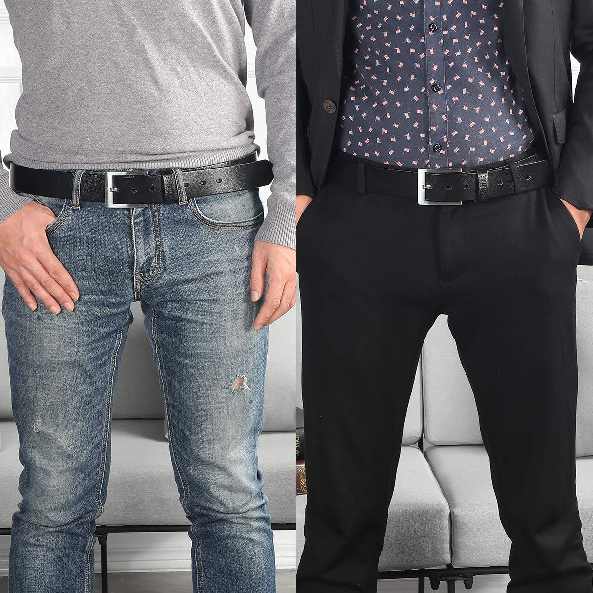 Amazon.com: Cinturones de cuero genuino para hombre, todos ...