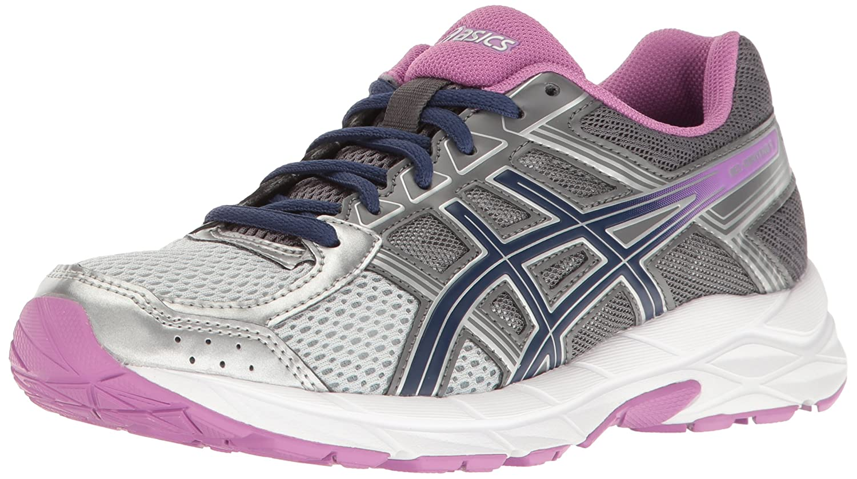 ASICS Women's Gel-Contend 4 Running Shoe B01GVQX3ZU 9.5 B(M) US Silver/Campanula/Carbon