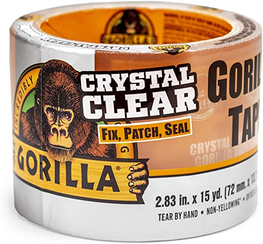 Crystal Clear GORILLA DUCT TAPE Heavy Duty Transparent Fix Patch Seal Repair