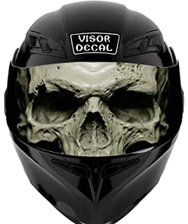 2848c9e3 V34 Skull VISOR TINT DECAL Graphic Sticker Helmet Fits: Icon Shoei Bell HJC  Oneal Scorpion