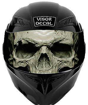 V34 calavera visera tinte de vinilo Graphic adhesivo casco compatible con: icono Shoei Bell casco