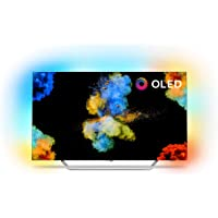 Philips 55POS9002/05 55-Inch 4K Ultra HD OLED TV with Android Smart TV, Ambilight 3-sided, HDR Perfect, Freeview HD, 30w Sound (2017 Model) Silver (Refurbished)
