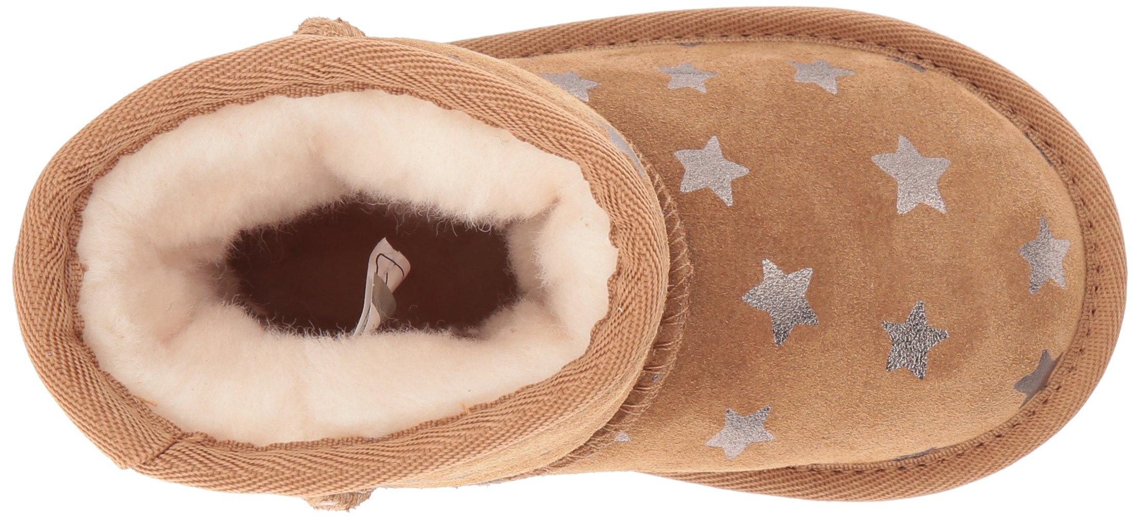 UGG Girls T Classic Short II Stars Pull-On Boot, Chestnut, 7 M US Toddler by UGG (Image #8)