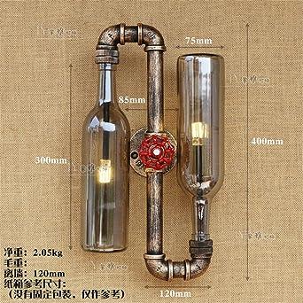 BOOTU lámpara LED y luces de pared Aire Industrial retro botella ...