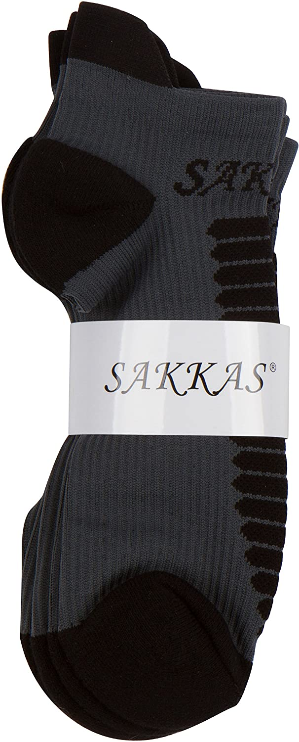 Sakkas Mens Best Pro Low Heavyweight Compression Ankle Performance Socks 3 Pack