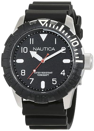 Nautica Reloj Analógico de Cuarzo para Mujer con Correa de Silicona – NAD09519G