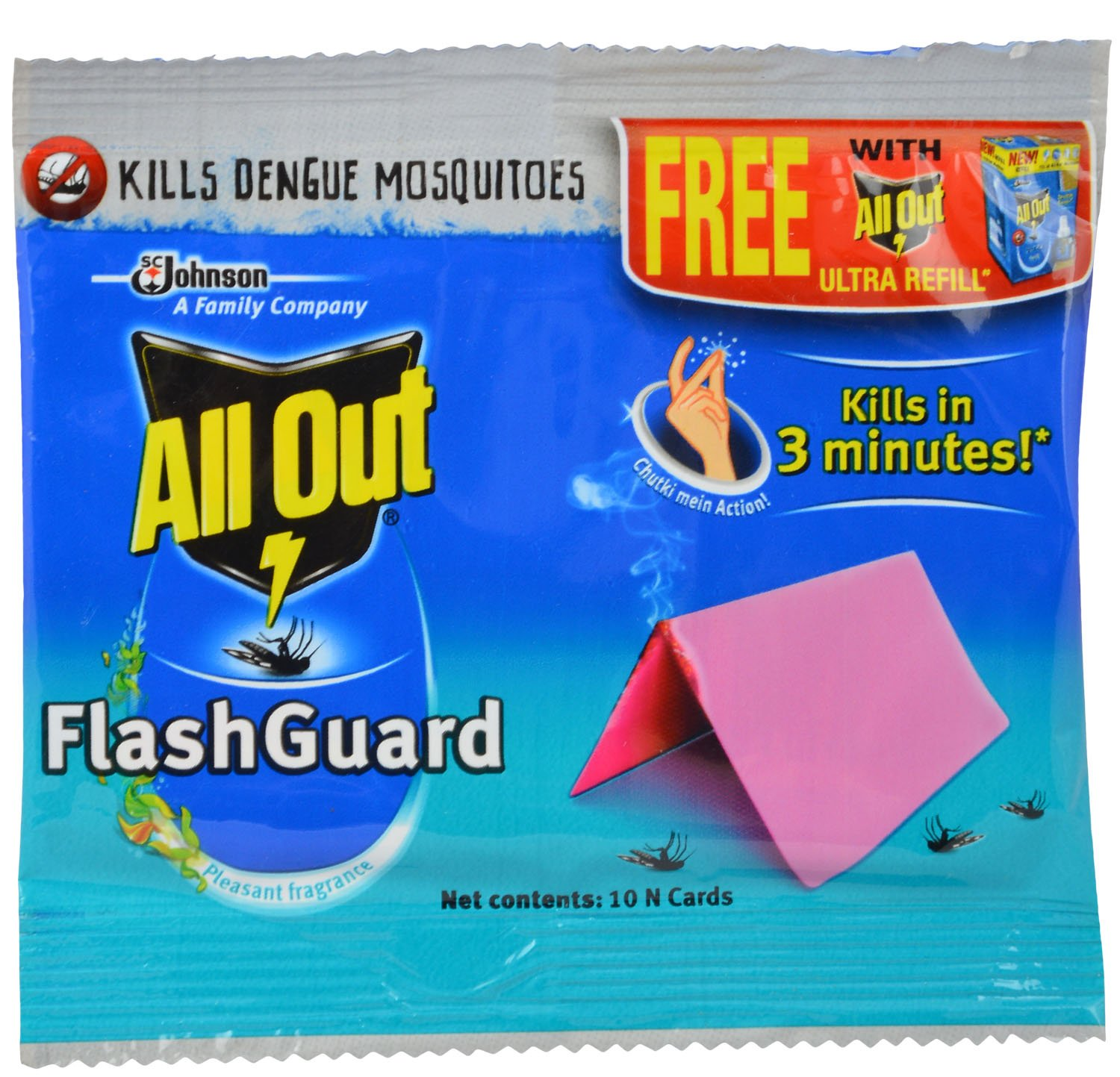 All Out Flash Guard - Mosquito Card 10 Pieces Pack