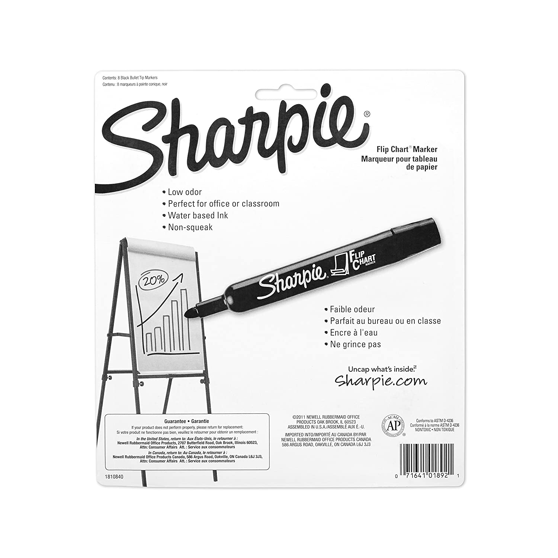 8-Pack Sharpie 1760445 Flip Chart Marker Black
