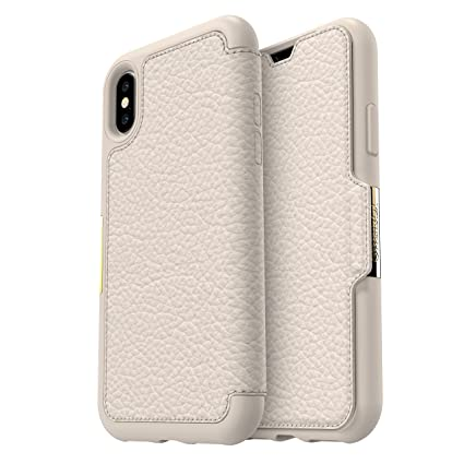 online store 71bb9 c6b4b OtterBox STRADA SERIES Case for iPhone Xs & iPhone X - Frustration Free  Packaging - SOFT OPAL (PALE BEIGE/PALE BEIGE LEATHER)