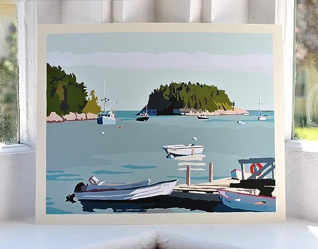 I Am An Island-Horizontal Print (8x10 Giclee Poster, Wall Decor Art)