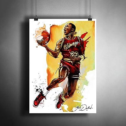 9b6103596bc76 Amazon.com: Michael Jordan NBA Basketball Art Poster Photo Print ...