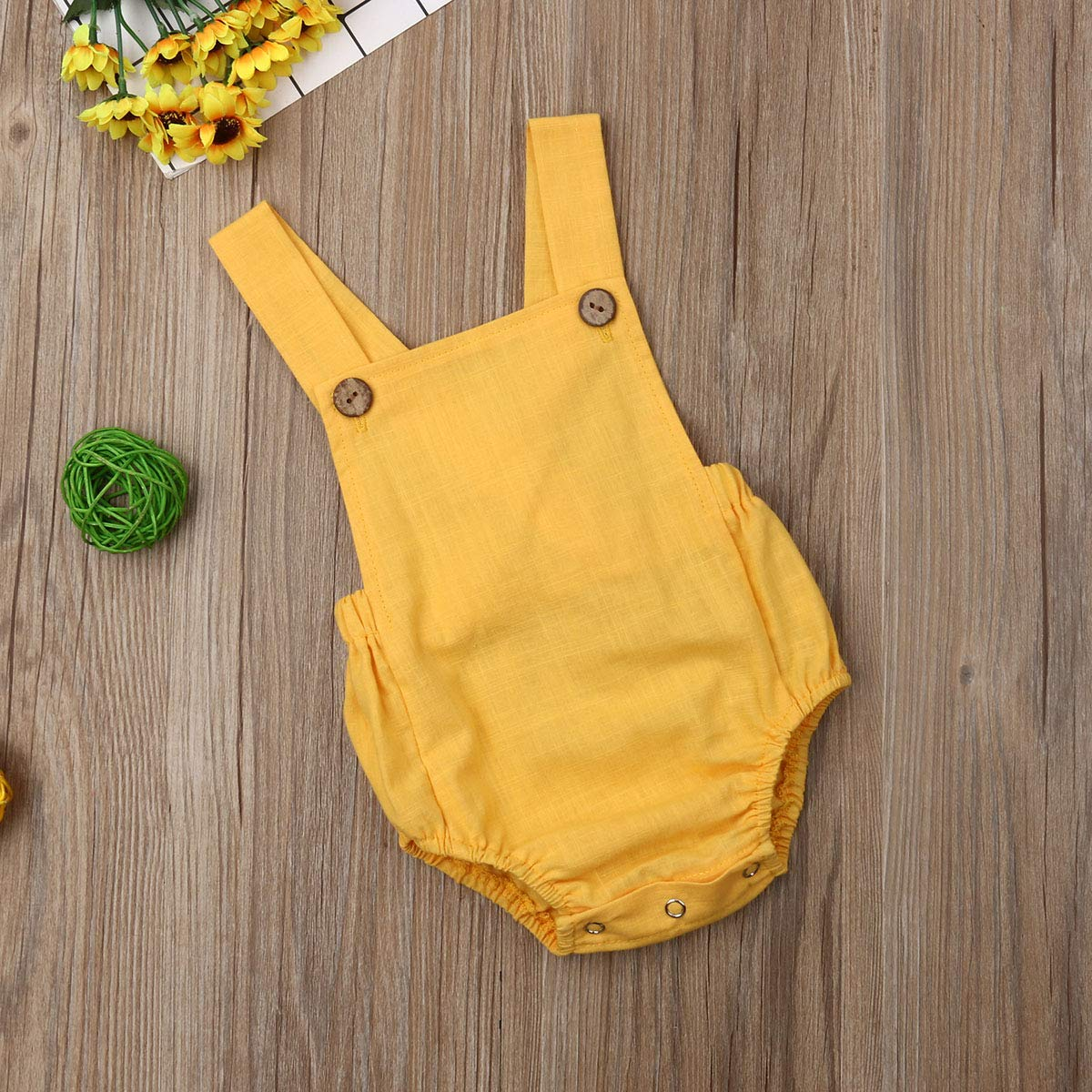 woshilaocai Baby Boy Girl Romper,Summer Baby One-Piece Backless Sling Jumpsuit Sunsuit Clothes
