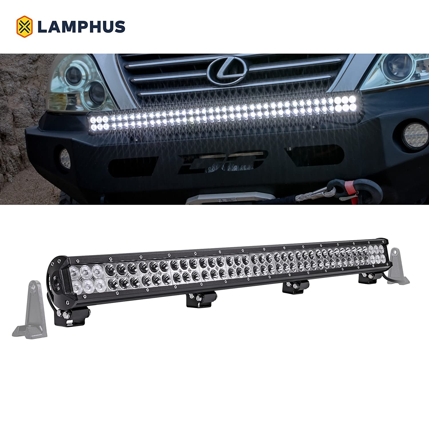 "Amazon.com: LAMPHUS CRUIZER 36"" 234W LED Flood/Spot Combo [30/60 Degree  Spread] [Spot/Flood/Driving Light Applications] [IP67] – For Off-Road,  Agricultural, ..."