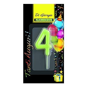 Cereria de Giorgio 5426 _ 64 vela de cumpleaños número 4 ...
