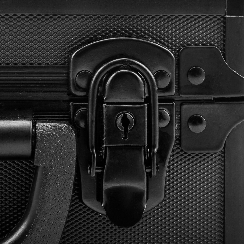 anndora Waffenkoffer Kurzwaffenkoffer Pistolenkoffer Schwarz 32 x 12 x 25 cm